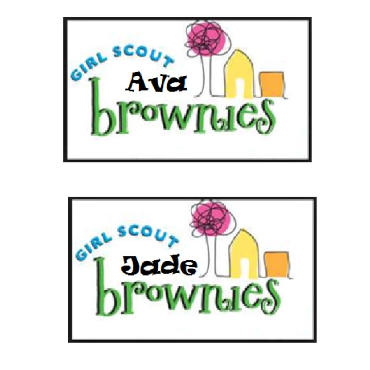 Girl Scout Brownie Name Tag