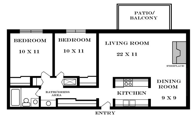Small House Floor Plans 2 Bedrooms 900
