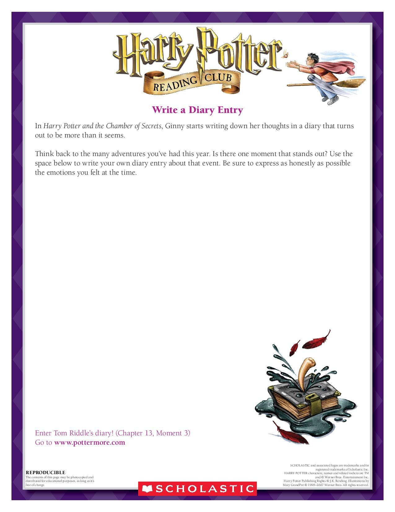 Creative Writing Write Your Own Diary Entry Download By Clicking The Image Above For More