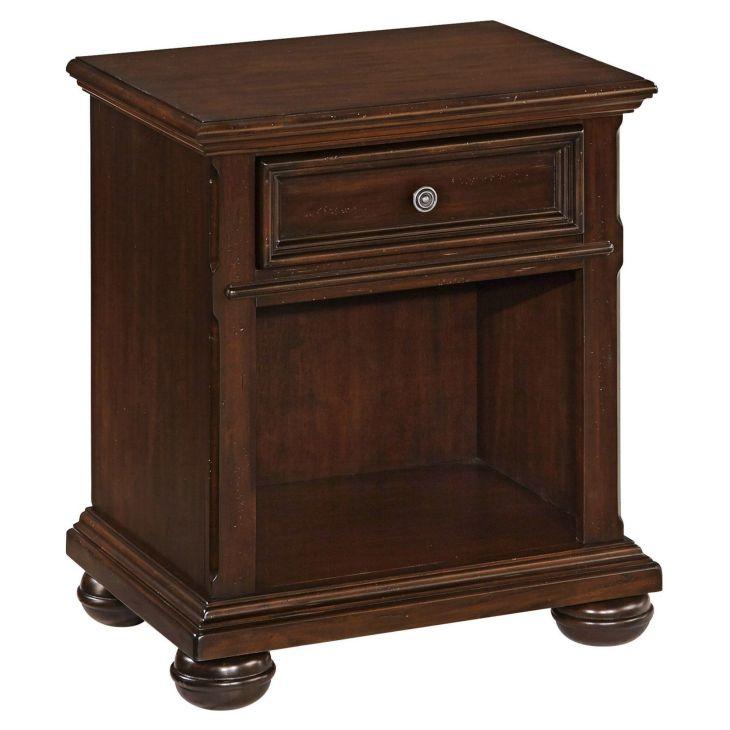 Home Styles Colonial Classic Drawer Nightstand Dark Cherry