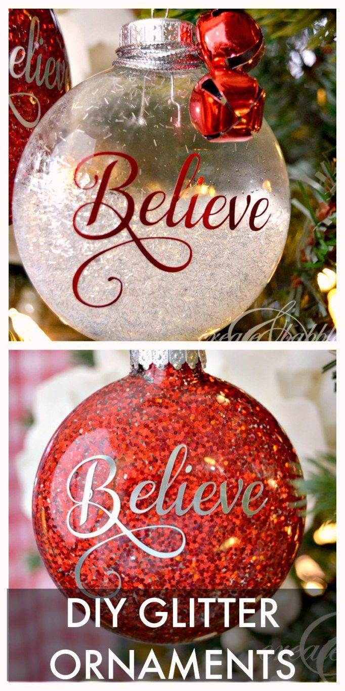 Adorable Handmade Christmas Ornaments Glitter ornaments