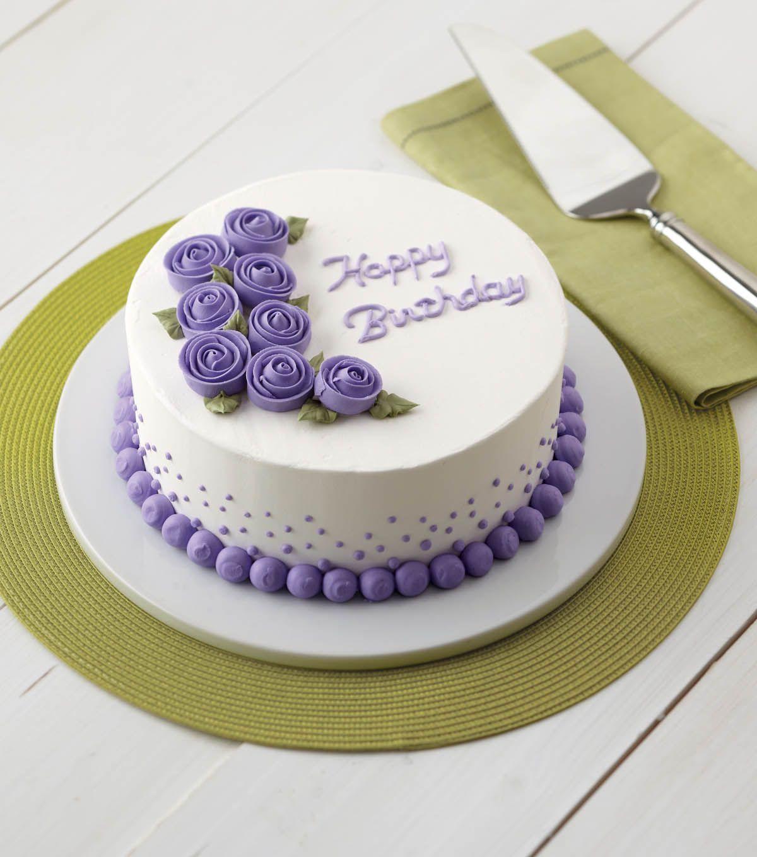 Vivid Violet Roses Cake Birthday Cake Wilton Cakes