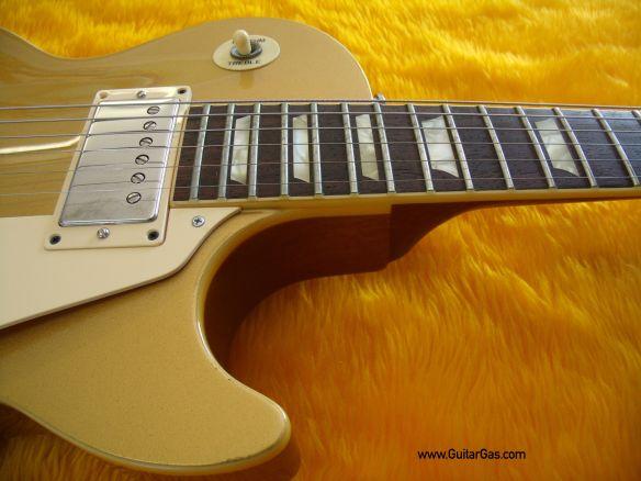 Fernandes Gold Top Super Grade Les Pal Neck Pocket