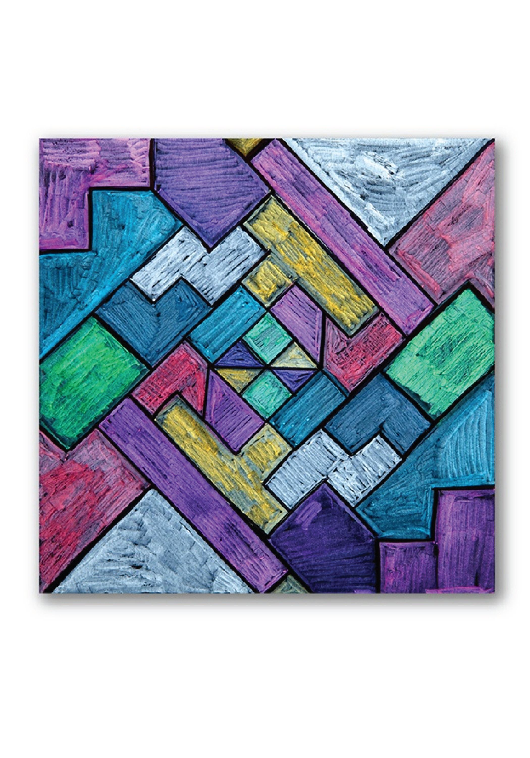 Explore Angles And Two Dimensional Shapes While Creating A Beautiful Custom Stained Glass Image