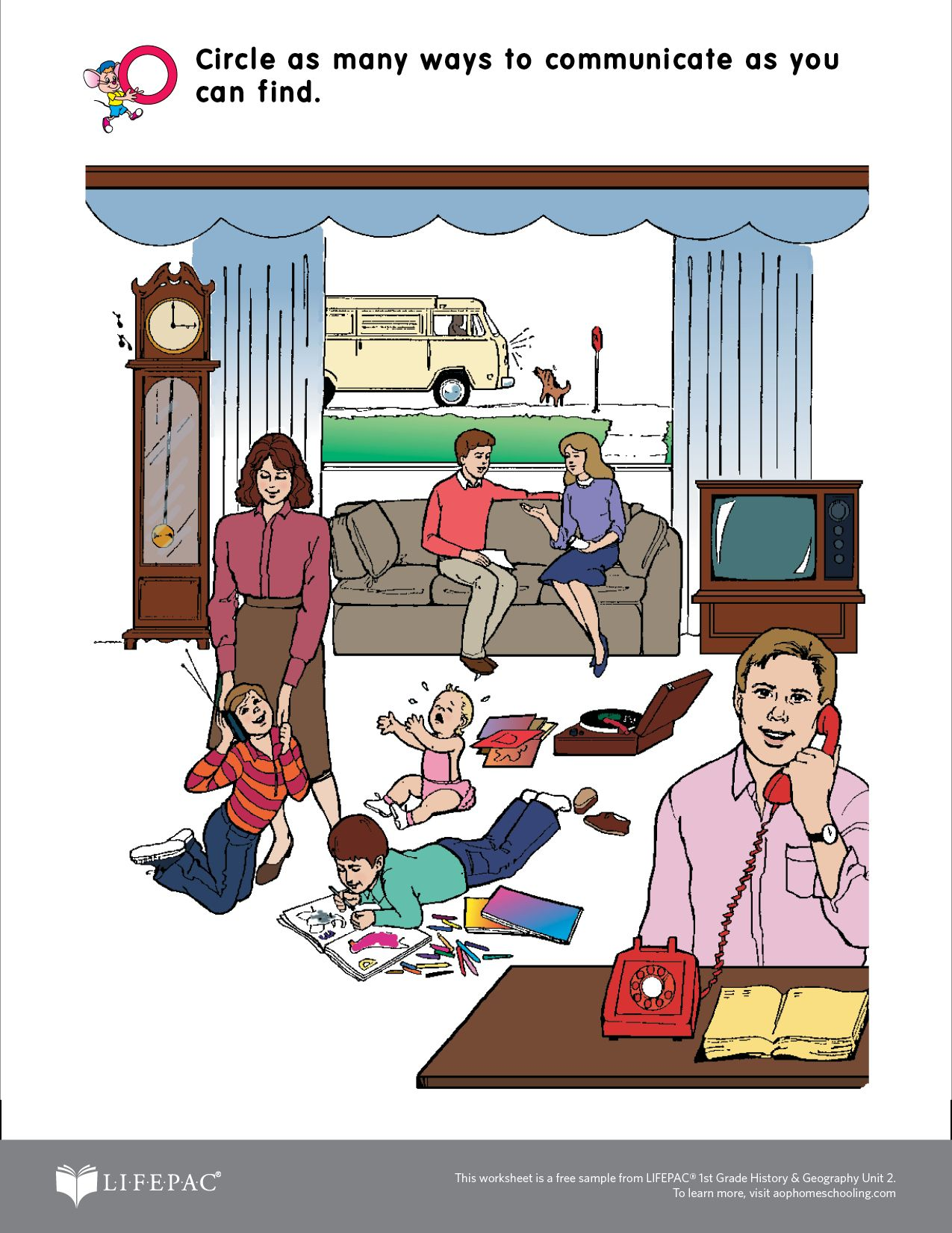 Lifepac 1st Grade Sample Worksheet Curriculum Download