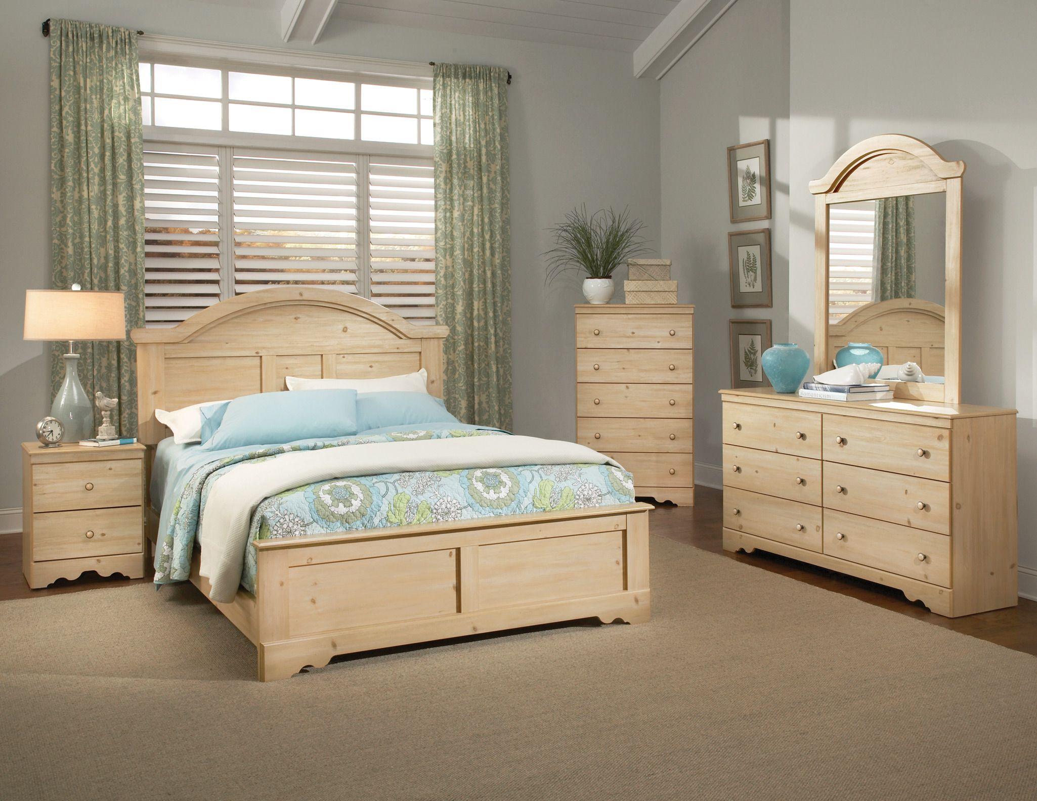 Pine And White Bedroom Furniture Vivo