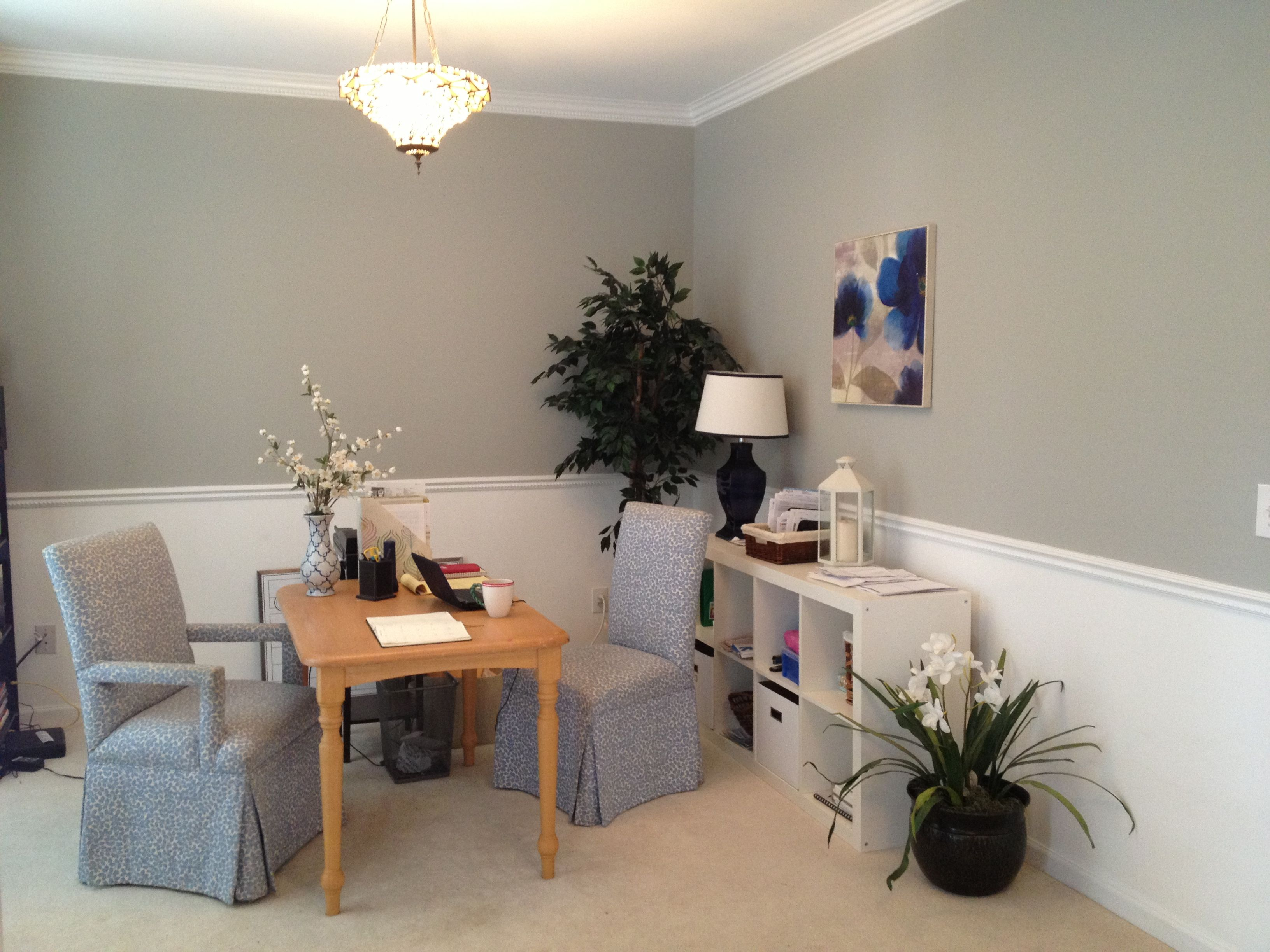 formal dining room turned into a home office wall color on office wall colors id=70209