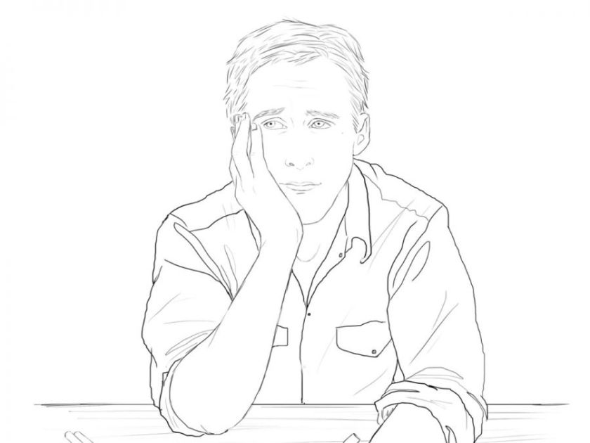 ryan gosling  a look at the 'color me swoon' coloring