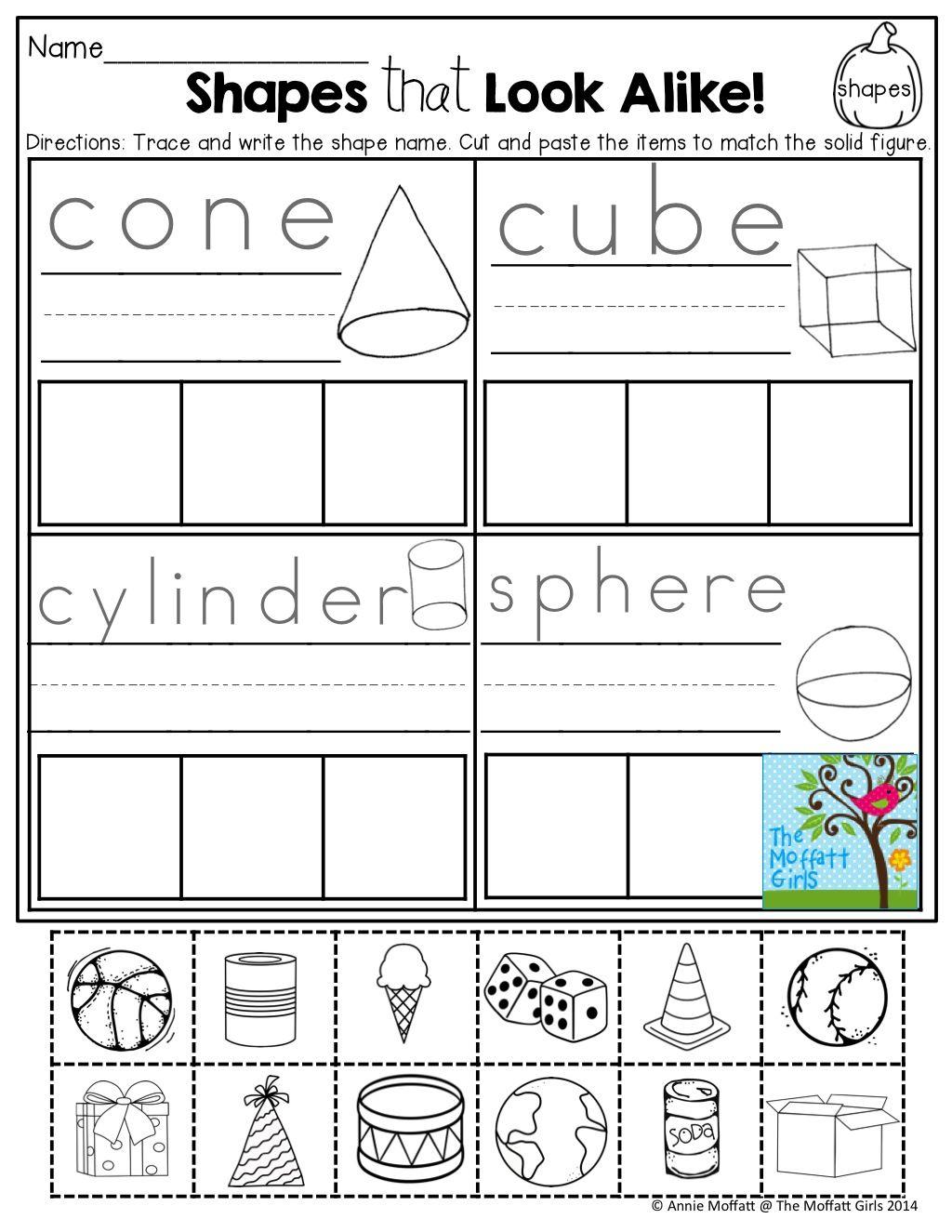 Geometry Worksheet Shapes