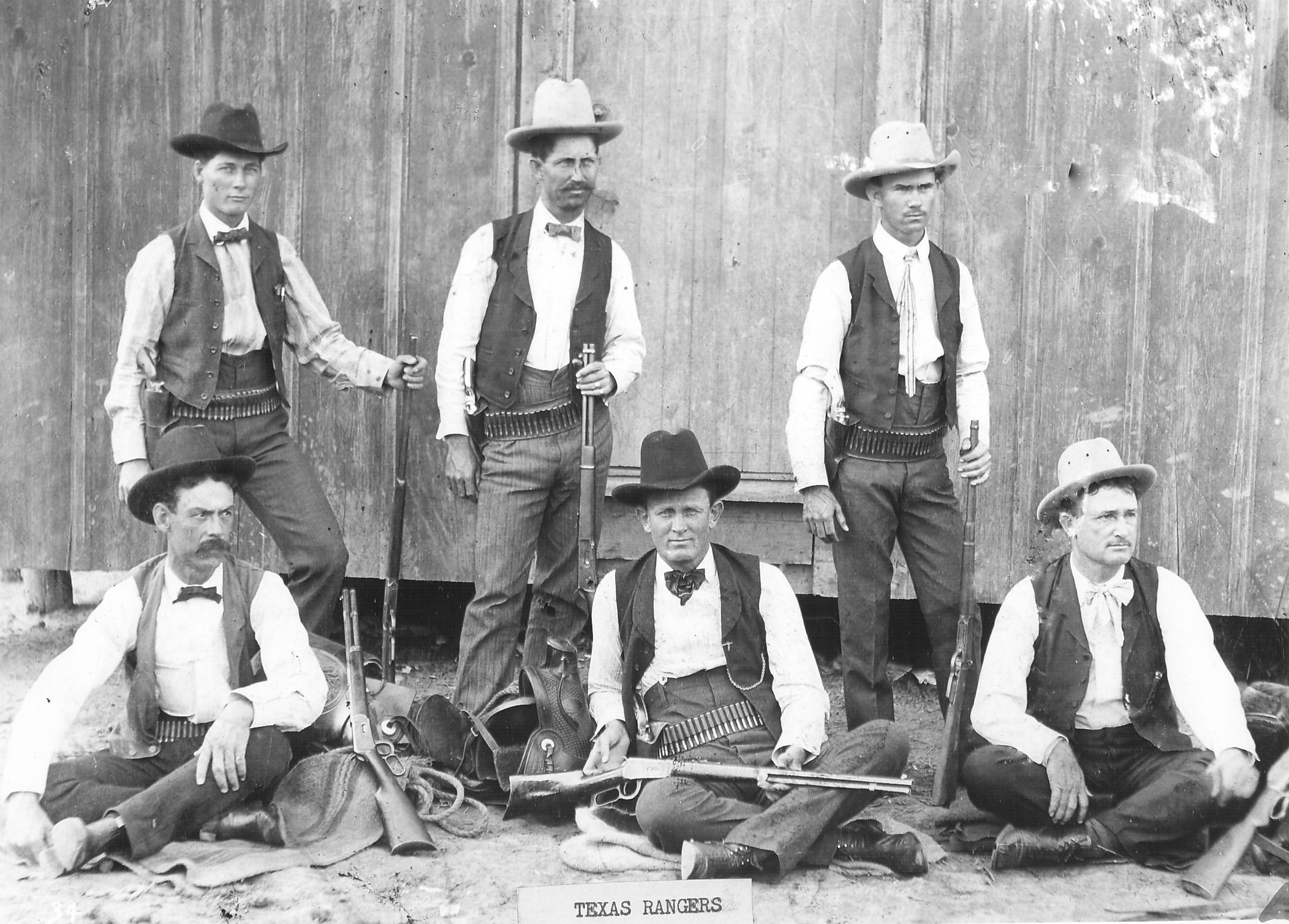 6 Texas Rangers With Guns In The Early S