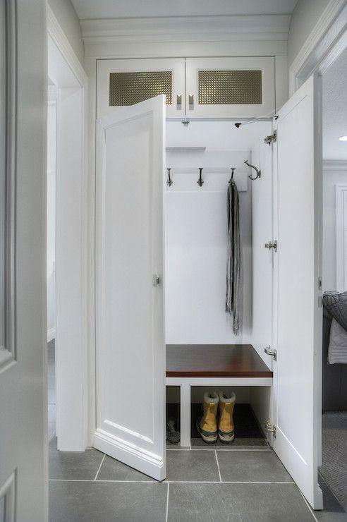 Concealed Small Hallway Mudroom Braams Custom Cabinets