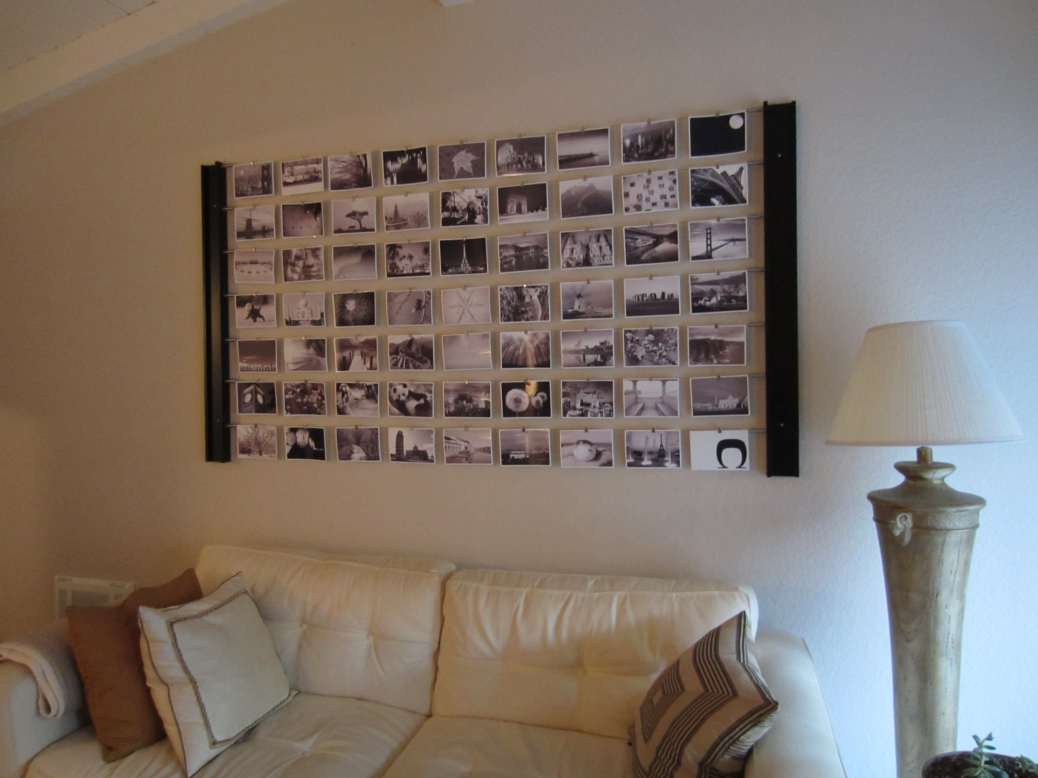diy photo wall d�cor idea | quick cash, photo wall decor and photo