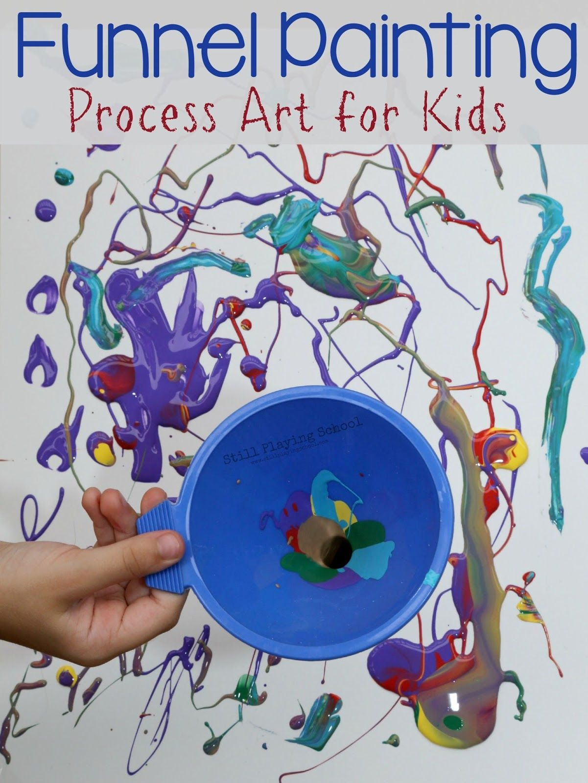 Funnel Painting Process Art For Kids