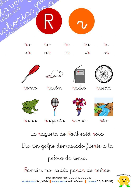 Material Lectoescritura Letra R Cartilla Y Bateria De