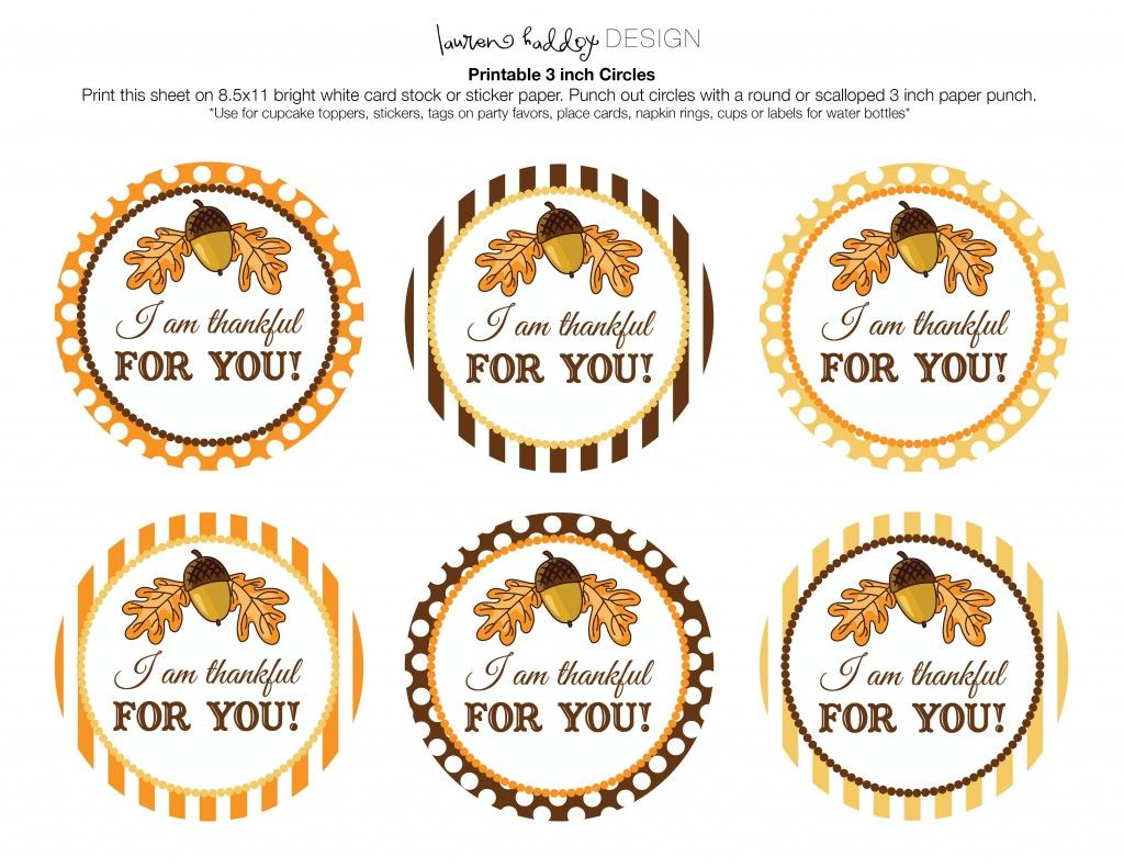 Free Printable Thankful Tag