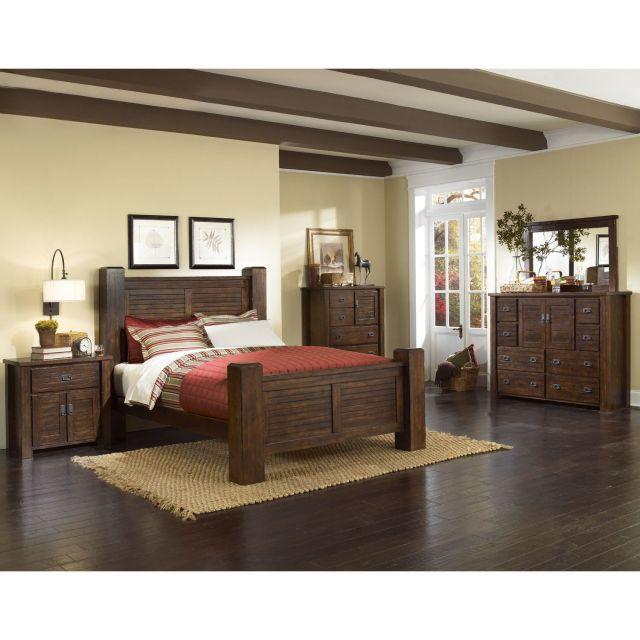 Progressive Furniture Trestlewood Panel Customizable Bedroom Set