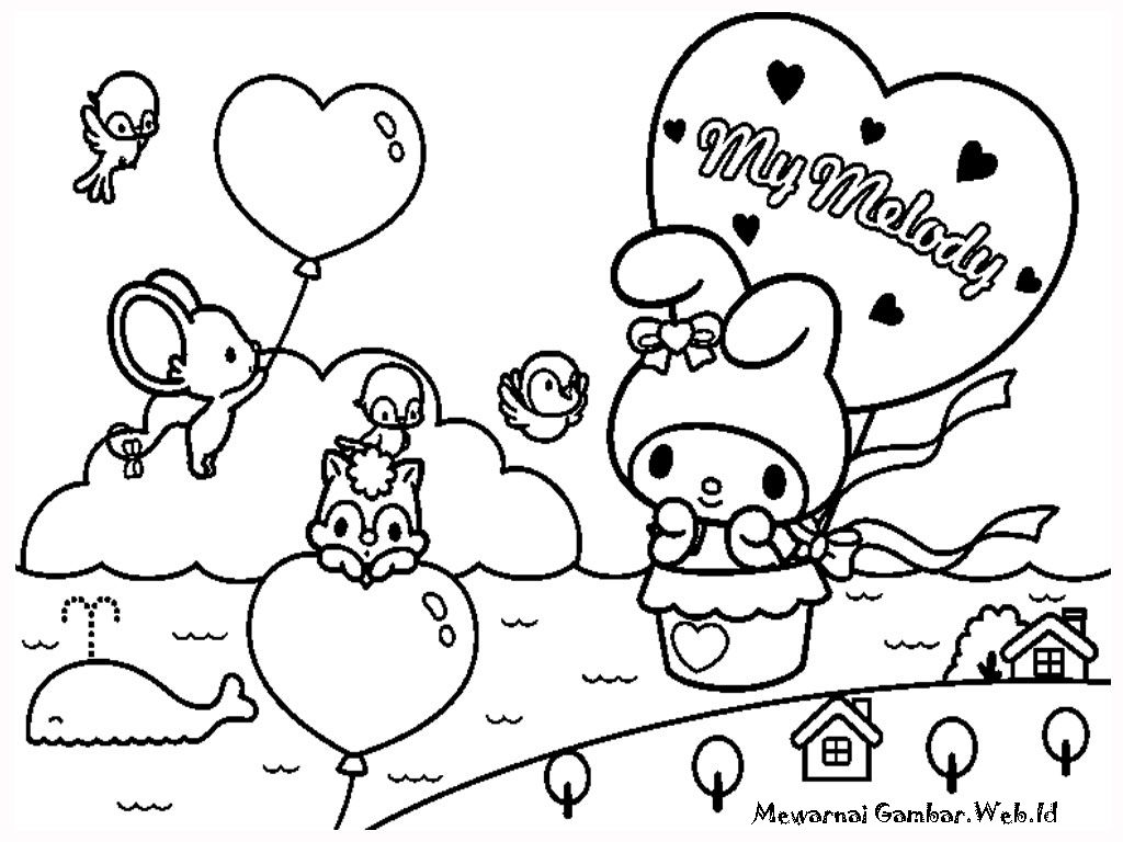 My Melody Free Printable Kids Coloring Pages