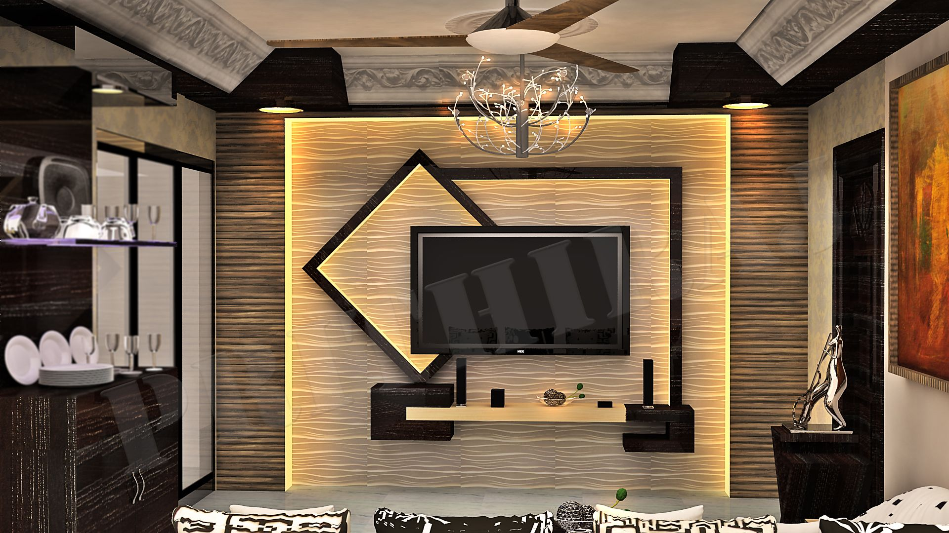 abstract concept of tv unit my designs pinterest on incredible tv wall design ideas for living room decor layouts of tv models id=72770