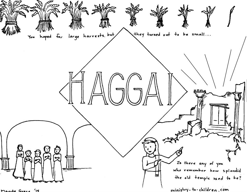 This Free Coloring Page Is Based On The Book Of Haggai It