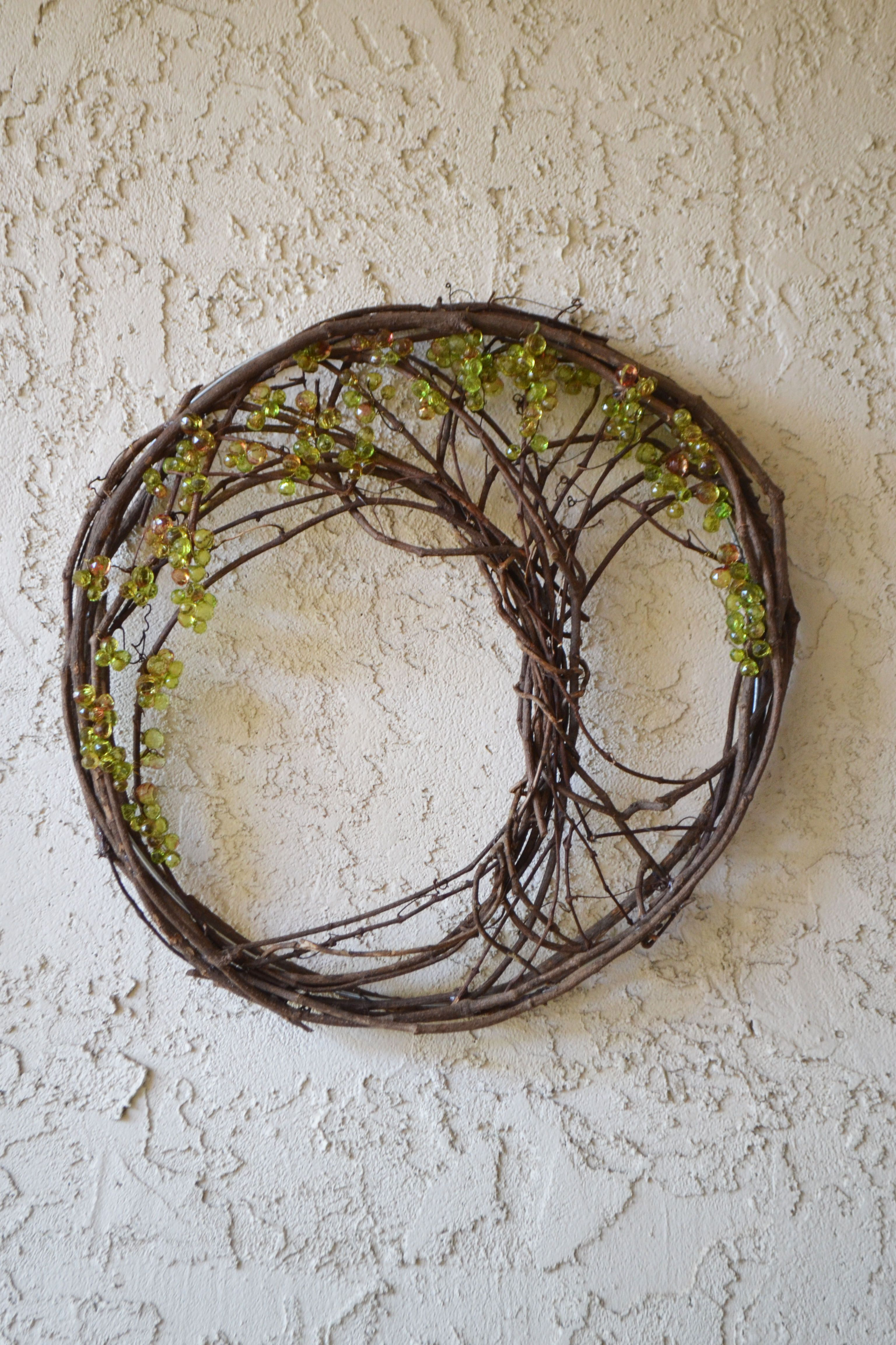 Tree Of Life Upcycled From A Grapevine Wreath DIY