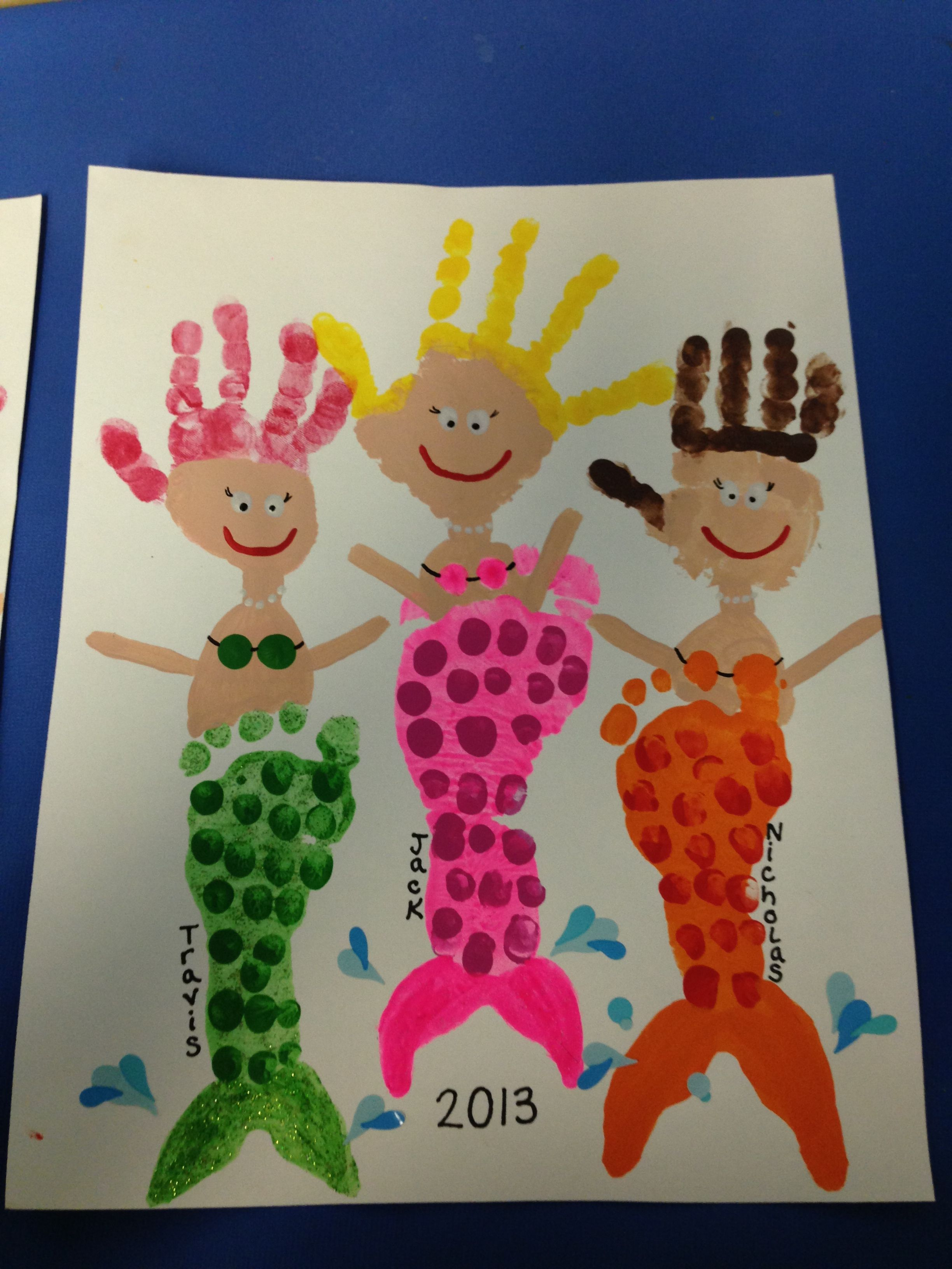 Footprint Handprint Mermaids
