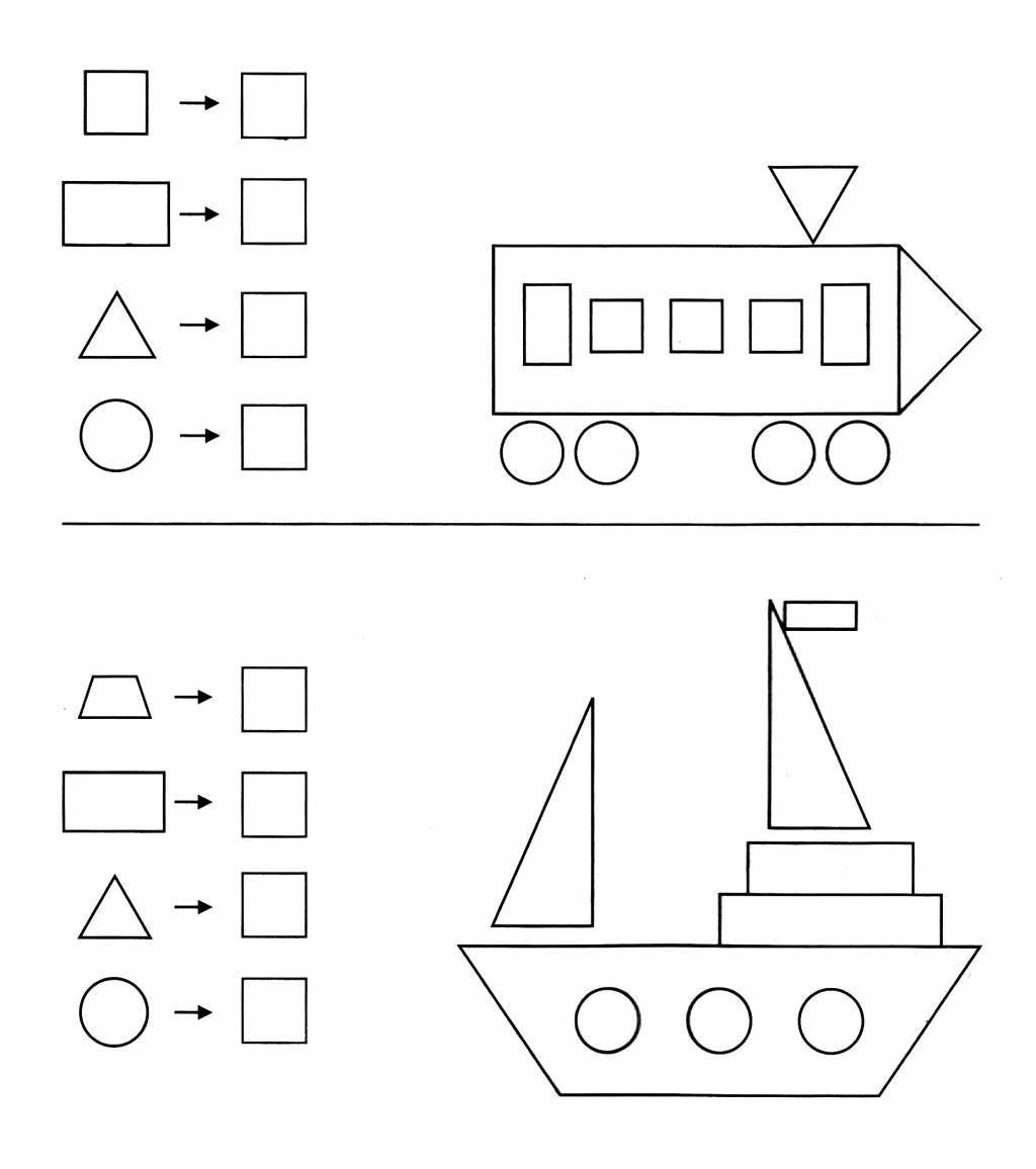 Welche Geometrischen Formen Wurden Beisen Bildern Verwendet Und Wie Oft