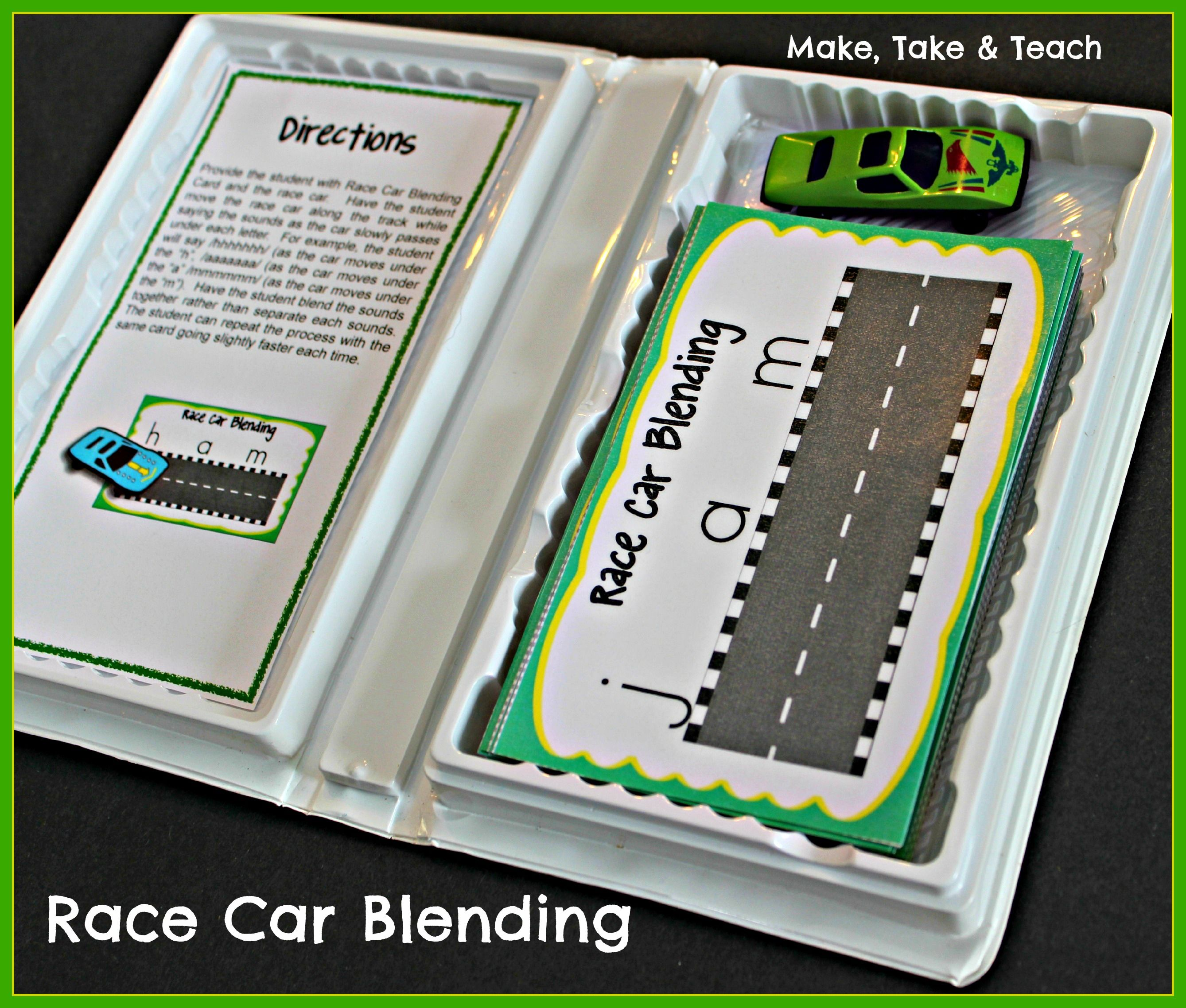 Race Car Blending Great Activity For Teaching Students To