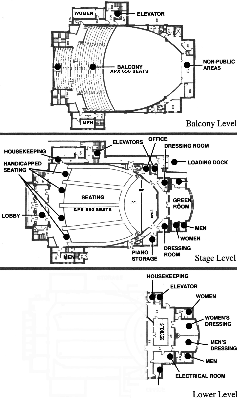 Eastern Michigan University Pease Auditorium Floor Plan