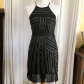 Parker taha silk beaded party dress nwot size s hang tags