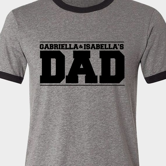 Customized dad shirt personalized with kids names by ...