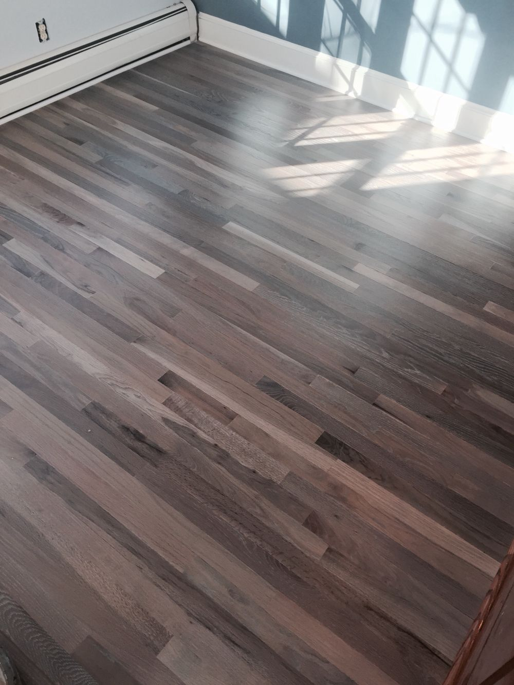 Refinished Red Oak Flooring With Rubio Fumed And Rubio 5