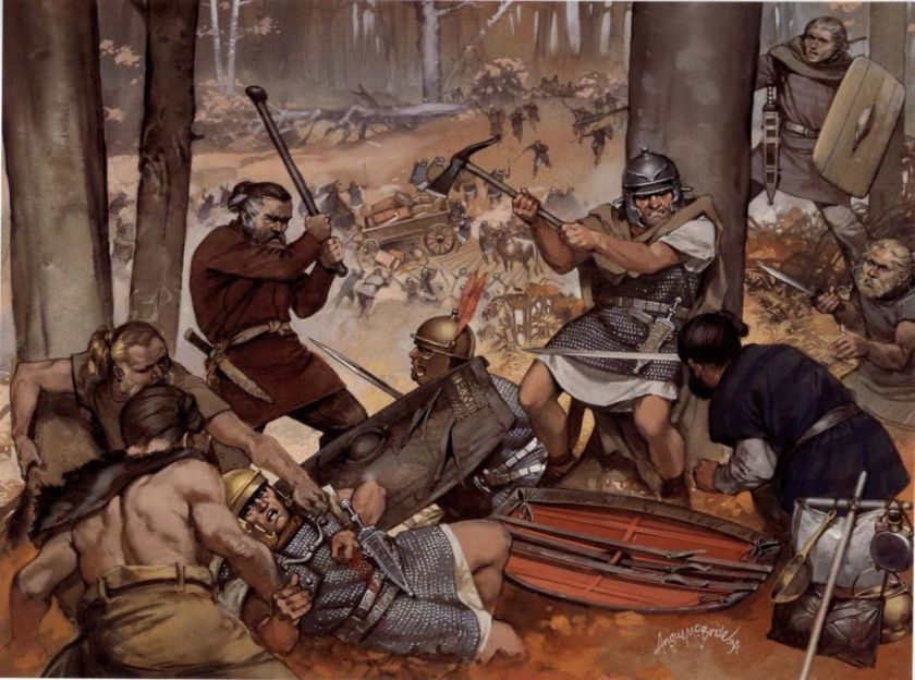 Image result for Battle of the Teutoburg Forest