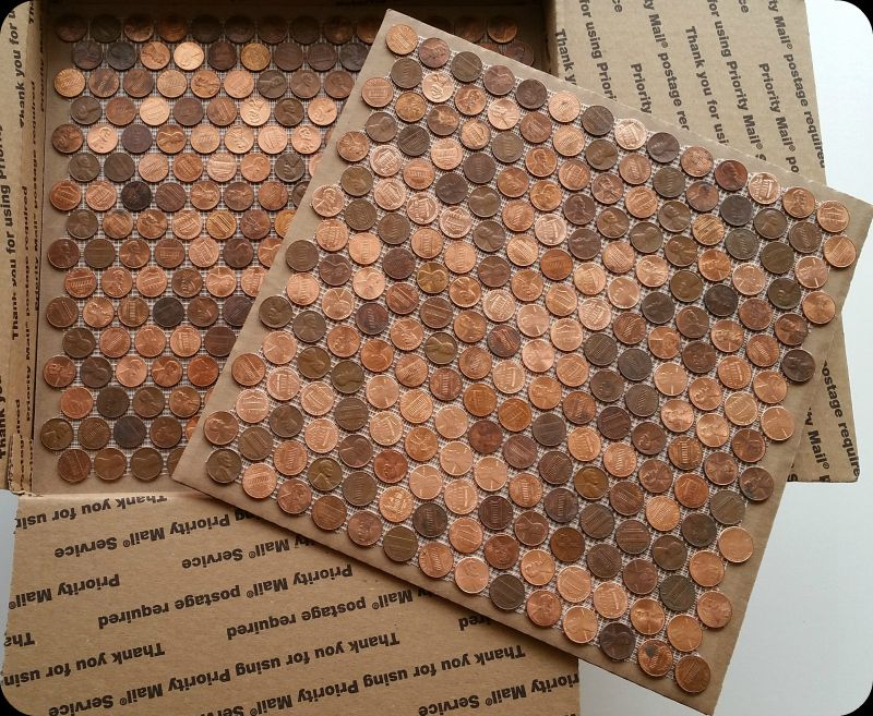 Tile Sheets Of Pennies That Can Be Installed On Floors Walls Counter Tops Backsplash And More