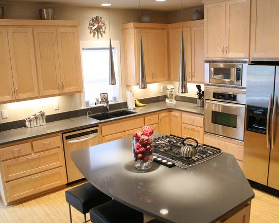 Natural Maple Design, Pictures, Remodel, Decor and Ideas ... on Natural Maple Cabinets With Quartz Countertops  id=31350