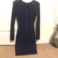 Lace dress navy blue  Navy blue LULUS Lace dress  Blue bodies Body con and Lace dress