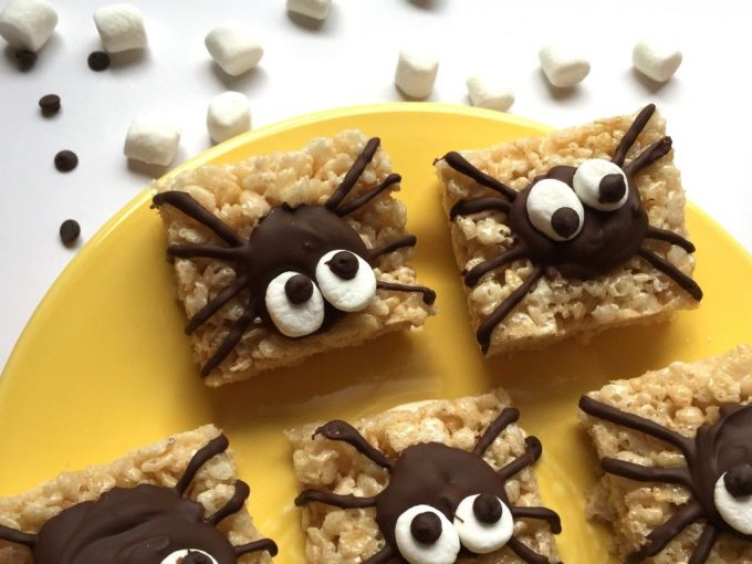 spider rice krispie treats easy halloween recipe