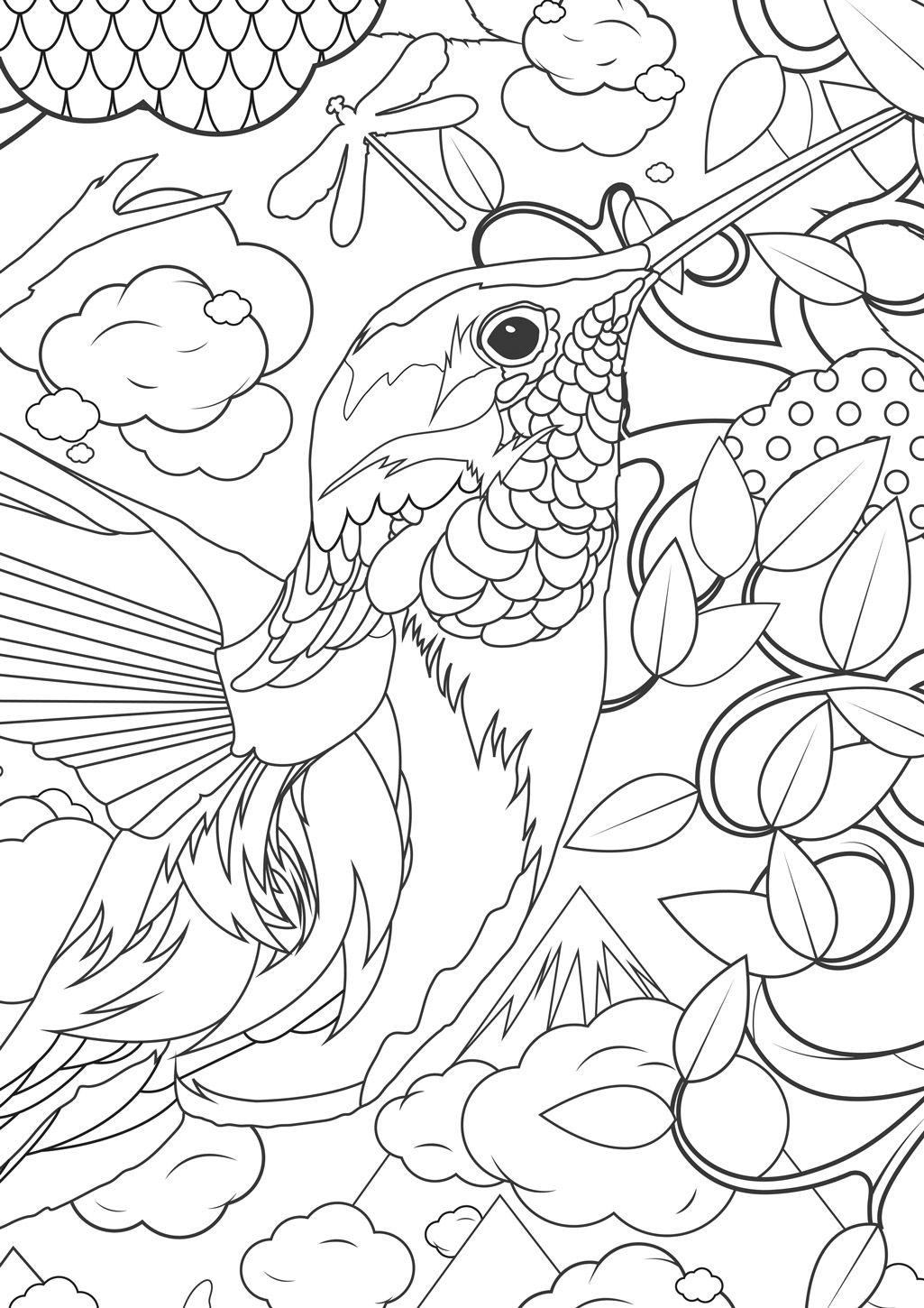 Animal Coloring Pages For Adults Difficult Animals