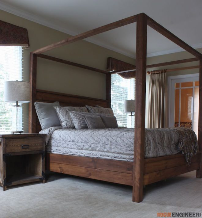 Canopy bed king size king size canopy bed and bed plans