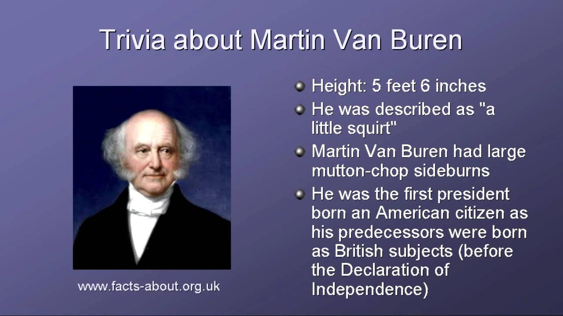 President Martin Van Buren Biography