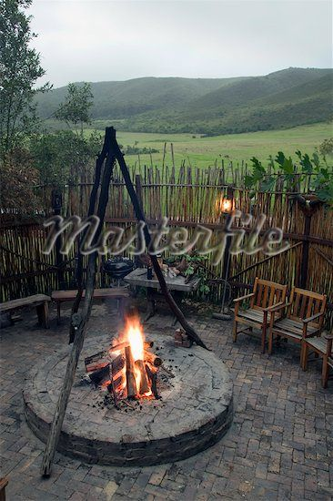 Boma With Stick Fence Outside Braai And Boma Pinterest