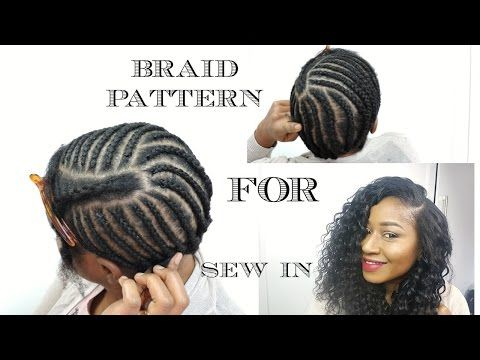updated braiding pattern for a side part with leave out youtube caring relxed hair