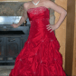 Red prom dress prom corset and dress prom