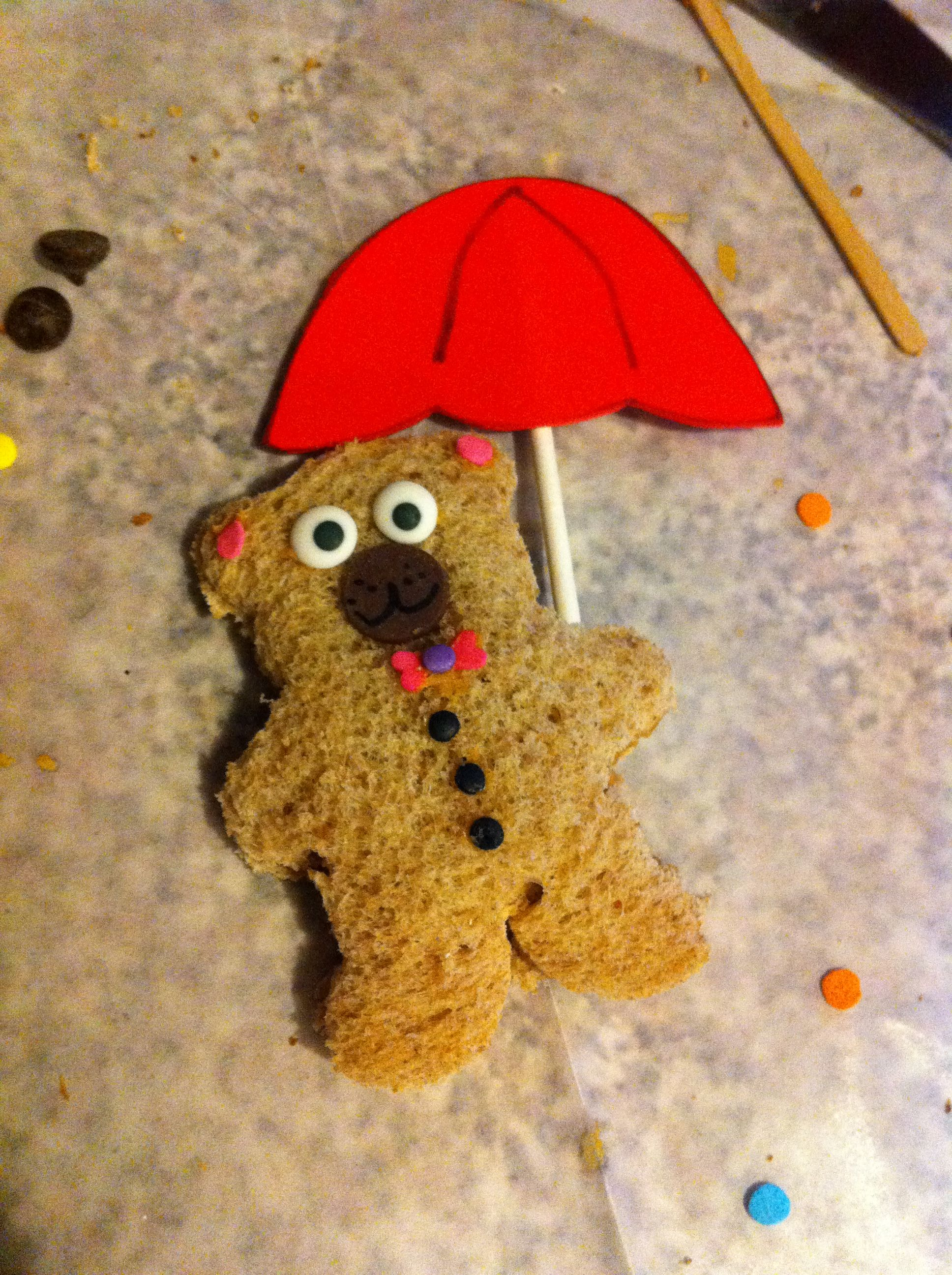 Letter U Themed Lunch For Preschool Umbrella Holding Teddy Bear