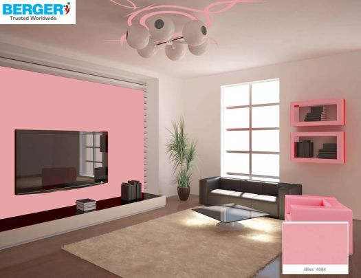 Try Attractive Teapink Color In Your Tv Lounge Berger Paints Paint