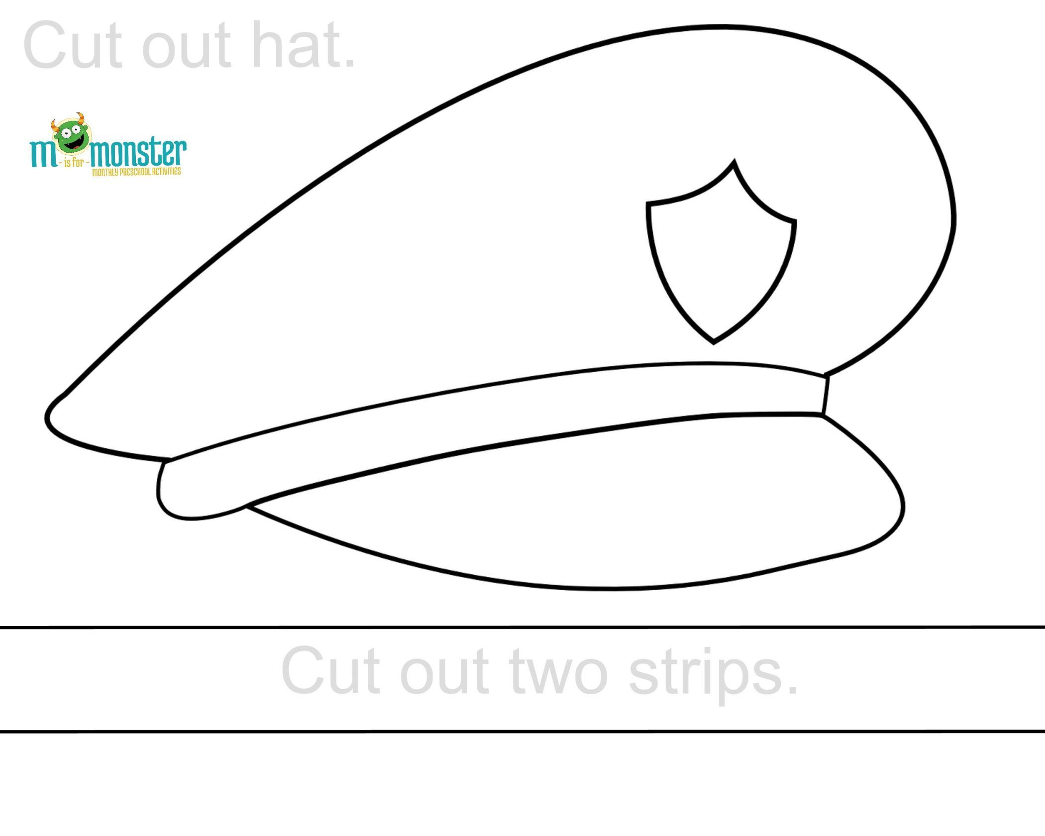Free Police Hat Printable There Are A Lot Of Ways We Can