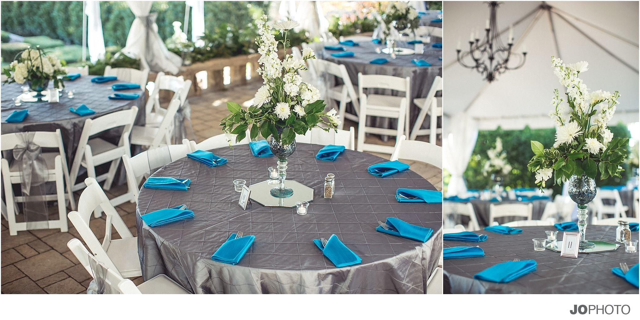 Teal-gray-wedding-reception, Turquise, Wedding, Linens