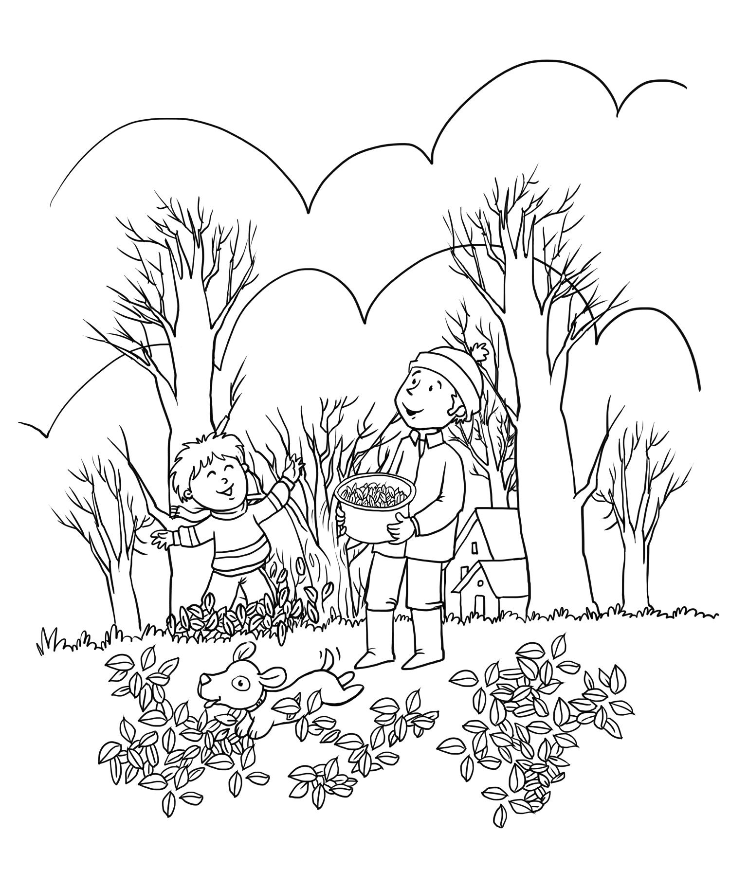 Fall Coloring Sheets For Kids Color Fun