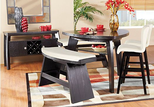 shop for a noah vanilla 4 pc counter height dining room at on rooms to go dining room furniture id=89371