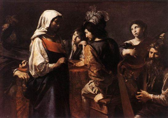 Image result for valentin de boulogne fortune-teller 1626