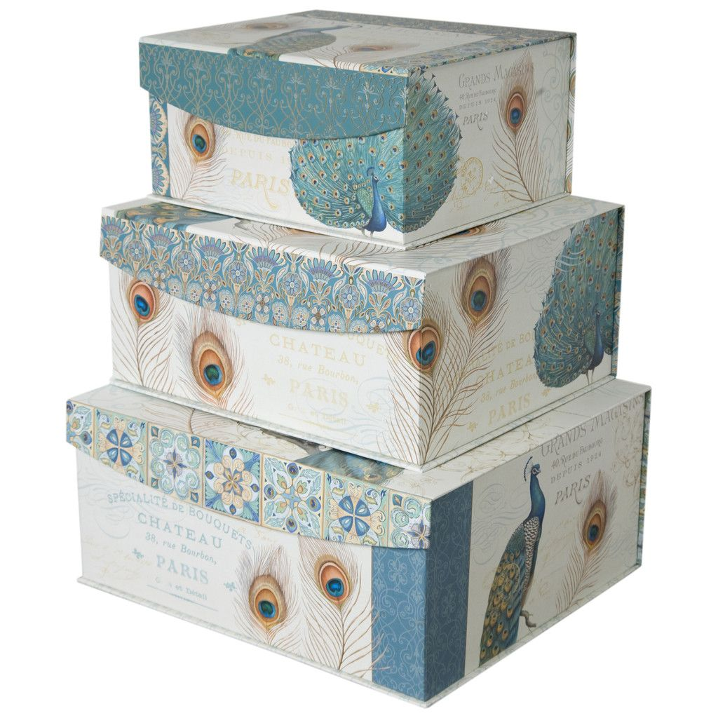 Decorative storage organizer boxes with sealable